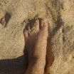 Sand between my toes! :)