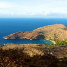 Hanauma Bay as seen from Koko Head